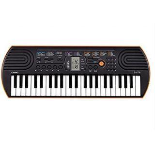 Casio SA-76 44 Keys Electronic Mini Keyboard (Orange)
