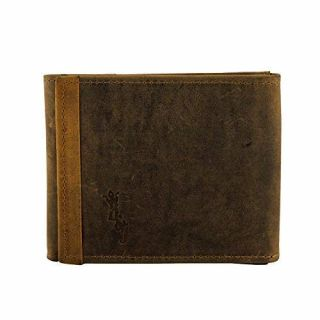Buff & Jack Stylish Genuine Leather KNIGHTHOOD Wallet for Men (Brown)