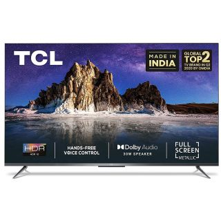 TCL 108 cm (43 inches) AI 4K Ultra HD Certified Android Smart LED TV 43P715 (Black) (2020 Model)