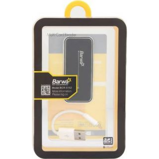 Barwa Multi Card Reader with Cable (Black:Silver)