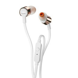 JBL T210 Pure Bass Headphones with Mic (Rose Gold)