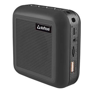 Theo Portable TWS Bluetooth Speaker with Mic (Black)