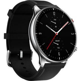 Amazfit GTR 2 Stainless Steel Smartwatch (Black Strap)