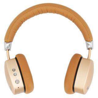 Barwa BBH401 On The Ear Wireless Bluetooth Headphone (Golden & Brown)