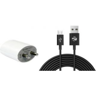 ZEBRONICS MA-522 DUAL USB FAST 2.1 A Multiport Mobile Charger (White)